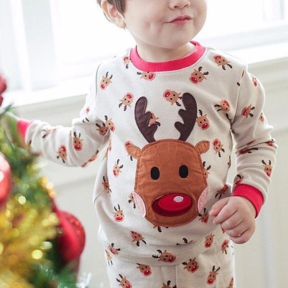 Toddler Christmas Pajamas.Toddler Christmas Pajamas Rudolph Reindeer 12m 5t Boutique